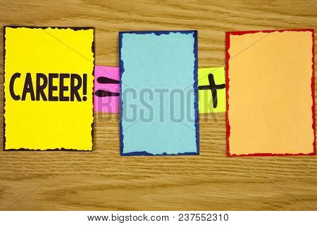 Text Sign Showing Career Motivational Call. Conceptual Photo Finding Your Dream Job With Proper Guid