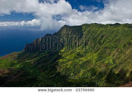 Rugged Landscape Of The Na Pali Coast On Kauai Hawaii