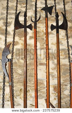 The Ancient Weapon. Mace, Sword And Other Medieval Weapons.