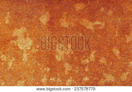 Old Dirty Cardboard Surface In Orange Tone. Abstract Background And Texture For Design And Ideas.