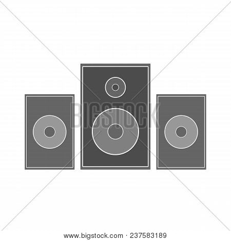 Music Speaker Column. Stereo System. Vector Icon.