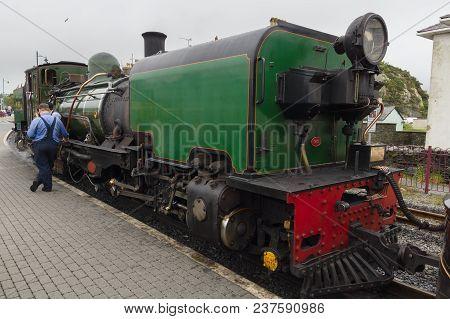 Porthmadog Wales Uk - September 4 2017: Ex-south African Railways Ngg16 Class Narrow Gauge Beyer Pea