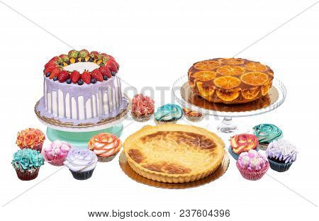 Cake, Tarts And Muffins Are Baked For The Holiday