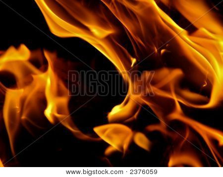 Abstract shot - detail (close-up) of the flames poster