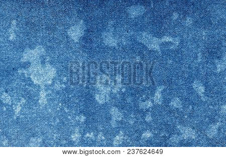 Old Dirty Cardboard Surface In Navy Blue Tone. Abstract Background And Texture For Design And Ideas.