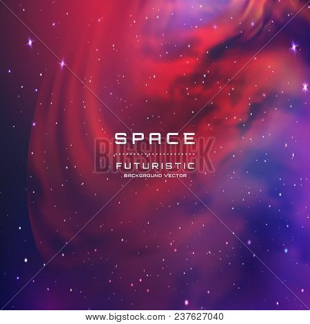 Space Stars Background. Vector Illustration Of The Night Sky. Illustration Of Outer Space And Milky