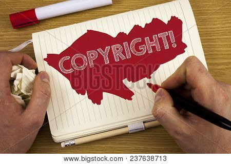 Word Writing Text Copyright Motivational Call. Business Concept For Saying No To Intellectual Proper
