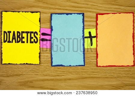 Text Sign Showing Diabetes. Conceptual Photo Medical Condition Diagnosed With Increased High Level S