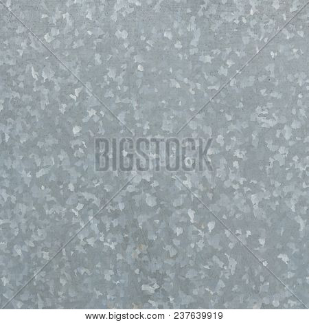 Zinc Galvanized Grunge Metal Texture May Be Used As Background. Texture Of Galvanized Iron Roof Plat