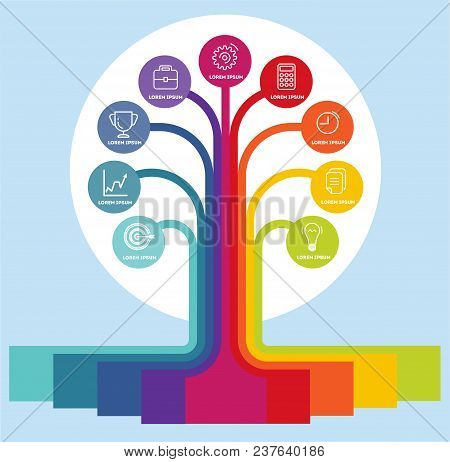 Infographic. Business Infographics. Infographics In The Form Of A Process Tree. Banner Infographic D