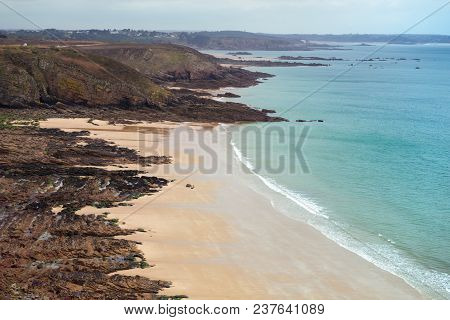 Typical Brittany Coast In The North Of France