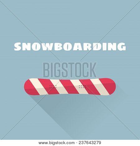 Snowboarding Flat Vector Illustration. Vector Illustration. Winter Sport.