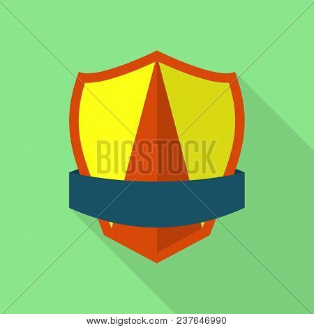 Dependable Shield Icon. Flat Illustration Of Dependable Shield Vector Icon For Web