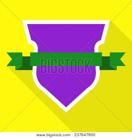 Military Shield Icon. Flat Illustration Of Military Shield Vector Icon For Web