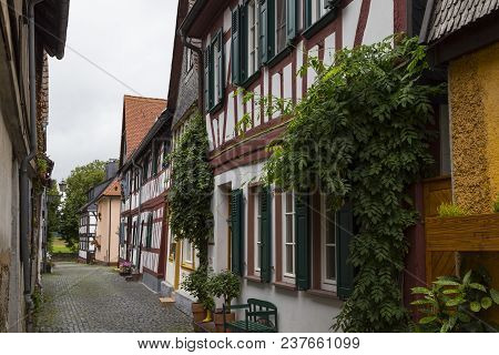 Ancient Town Seligenstadt, Offenbach District  - One Of The Oldest Cities In Germany:  Narrow Street