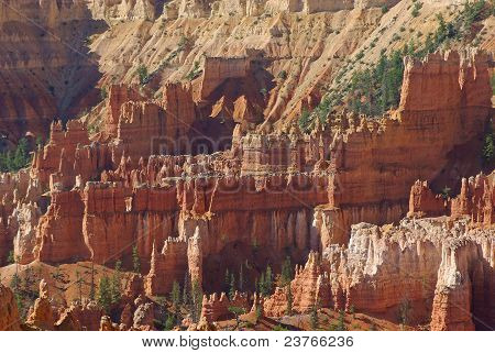 Castle-like Rocks in Brice Canyon