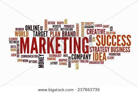 Web Marketing Word Vector Photo Free Trial Bigstock