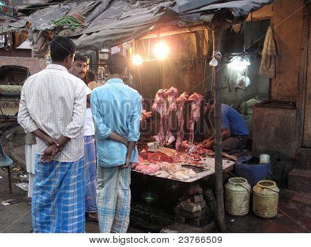 Streets Of Kolkata. Butcher