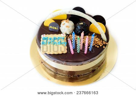 The Birthday Cake , Blow Out Candles On Birthday Cake, Birthday Chocolate Cake For Kids Of All Ages,