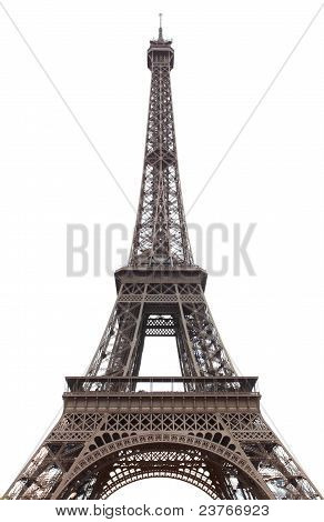 Eiffel tower isolated over the white background poster