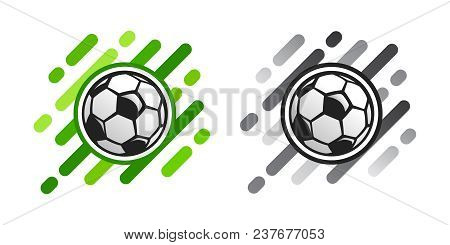Soccer Ball Vector Icon On Abstract Background. Football Ball Vector Icon. Soccer Logo