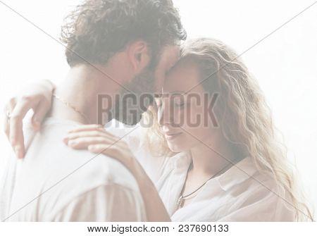 Loving couple having a romantic moment