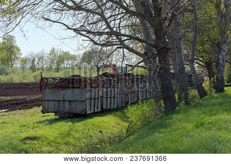 Narrow-gauge Field Railway, In Germany Called Lore, Transport Of Peat Out Of The Turf Bog, Venner Mo