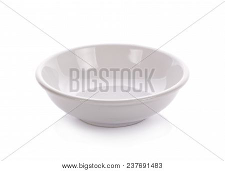 White Ceramic Bowl An Isolated On White Background