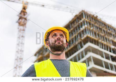 Building Construction Worker Engineer Posing