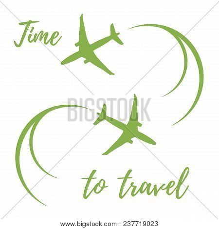 Cute Vector Illustration With Planes And Traces Of The Plane. Design For Poster Or Print.