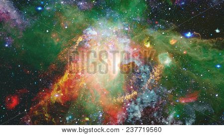 Cosmic Art, Science Fiction Wallpaper. Beauty Of Deep Space. Elements Of This Image Furnished By Nas