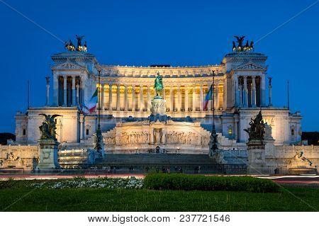Altar Of The Fatherland (altare Della Patria) Known As The Monumento Nazionale A Vittorio Emanuele I