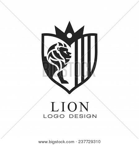 Lion Logo Design, Element For Poster, Banner, Embem, Badge Classic Vintage Style Vector Illustration