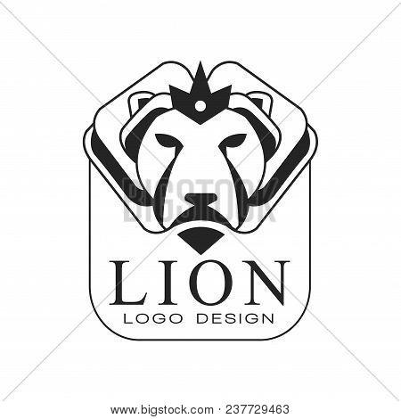 Lion Logo Design, Classic Vintage Style Element With Wild Animal For Poster, Banner, Embem, Badge, T