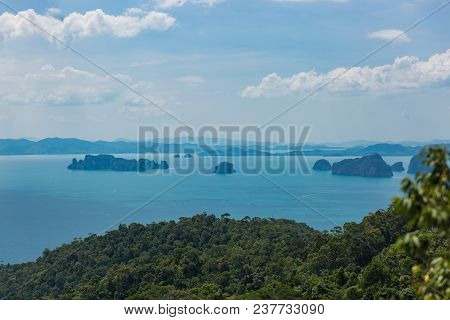 Aerial View Of Ao Nang Coastine In Krabi Province, Thailand