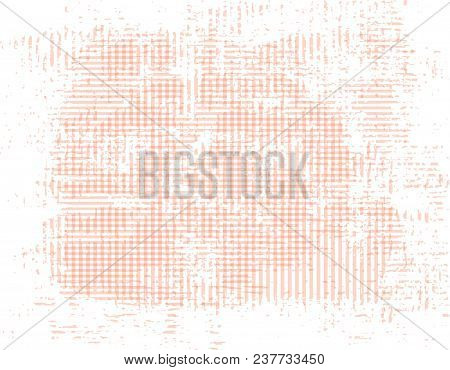 Peach Grunge Background Of Intersecting Stripes. Vector Background