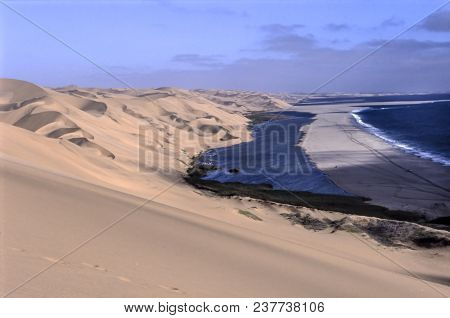 View Of The Lagoon Of Sandwich Harbour, Namibia, Africa