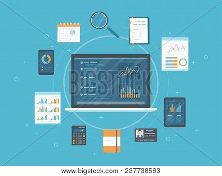 Data Analysis, Analytics, Auditing, Research. Web And Online Mobile Service. Documents, Charts Graph