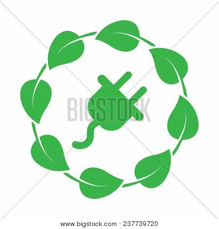 Energy Efficiency, Eco House Icon. Ecology Electric Power Sign. Nature Environment Electricity Techn