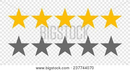 Rating Stars Or 5 Rate Review Vector Web Ranking Star Signs