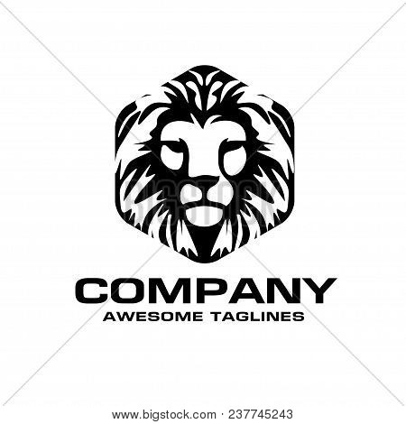 Lion Head Logo Vector, Lion King Head Sign Concept, Lions Head Logo, Lion Face Graphic Illustration,
