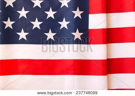 American Flag Background . Independence Day Celebration. July 4th .