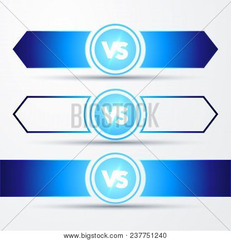 Vector Illustration Isolated Vs Versus Sign Concept Of Confrontation, Together, Standoff, Final Figh