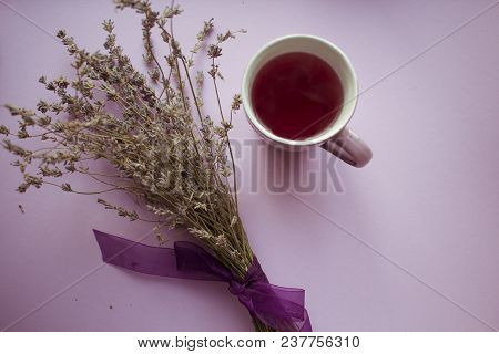 Cozy Evening With Lavender And Berries Tea