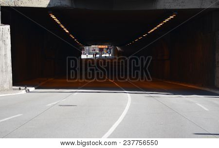 Short Tunnel In The Center Of The City