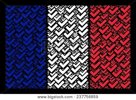 France National Flag Composition Created Of Yes Pictograms. Vector Yes Objects Are Composed Into Geo