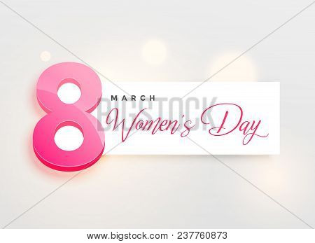 Happy Women's Day Elegant Greeing Card Design