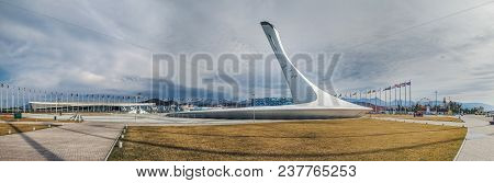 Sochi, Russia - February 25, 2017: Panorama Of The Olympic Park.