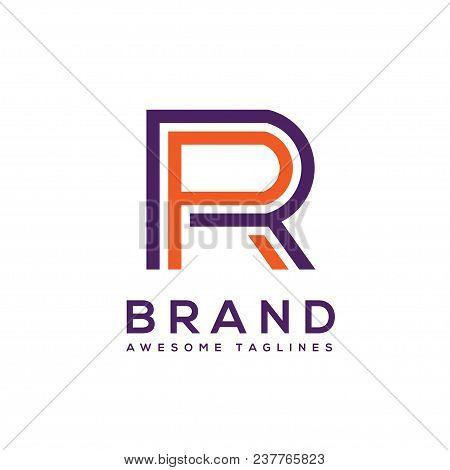 Creative Letter Rr Logo Design Elements. Simple Letter Rr Letter Logo,business Corporate Letter R Lo