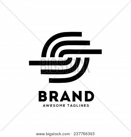 Letter S Circle Strips Logo Design Template Elements. Logo Initial Letter S Circle Business Corporat